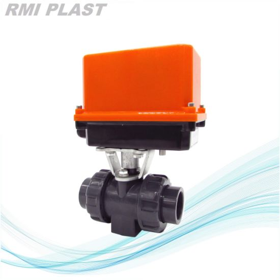 PVC Three Way Ball Valve with T Port pictures & photos
