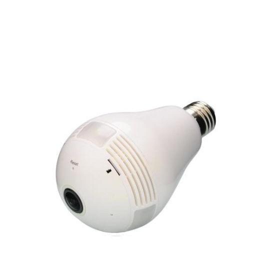 Factory Price 360 Degree CCTV P2p Wireless IP Network Mini Hidden Security  Video WiFi Light Bulb Camera with Motion Sensor