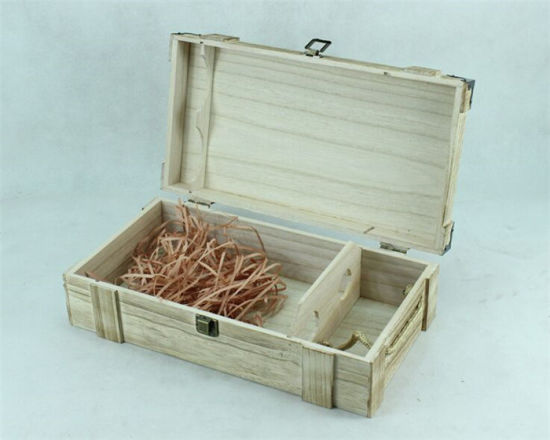 Vintage Roast Color Double Bottle Wooden Box Custom Made pictures & photos