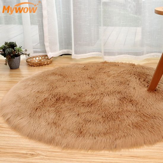 2021 New Pure White Sheepskin Plush Fur Rugs Faux Fur Carpet