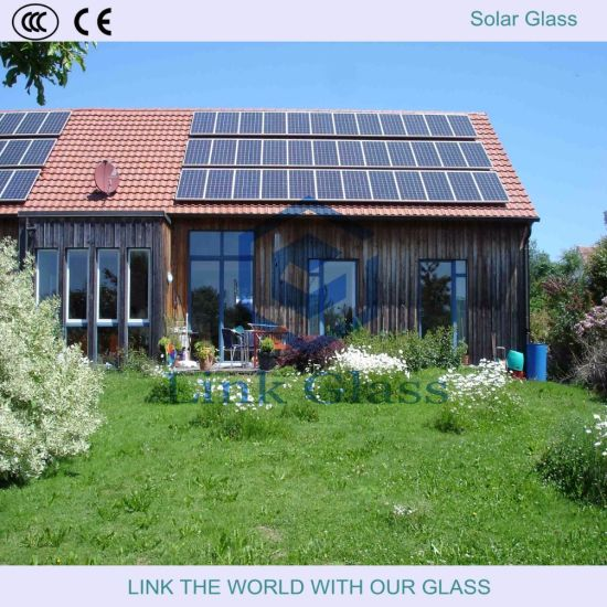 3.2mm Tempered Low Iron Prismatic Solar Glass for Solar Panel with Ce/SGS pictures & photos