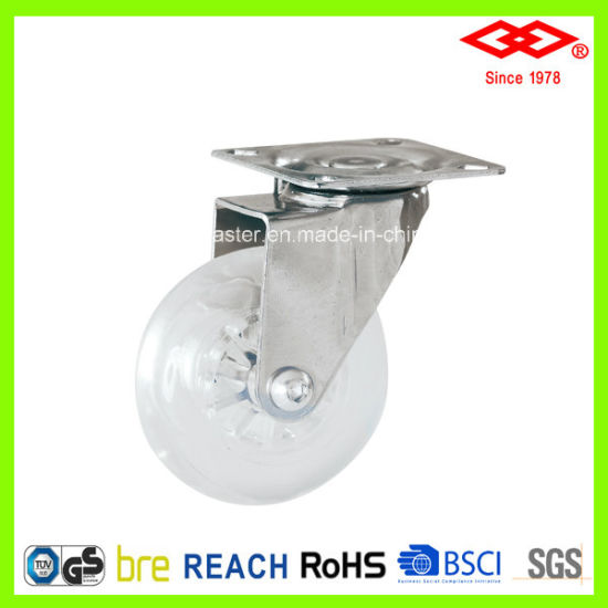 Transparency Material Furniture Caster for Board (P170-65B065X23)