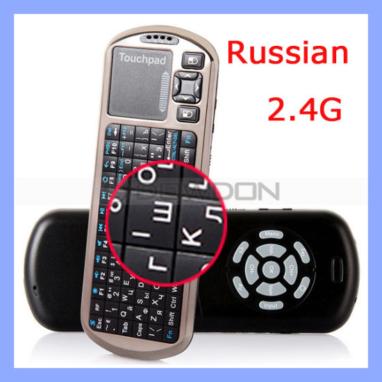 Handheld Slim Keyboard with Touchpad Support 2.4G Bluetooth Keyboard (KN-102)