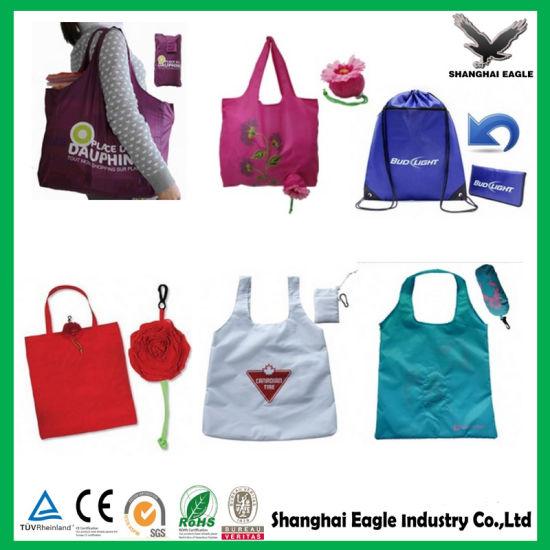 222e5575c6 China Reusable Nylon Polyester Folding Shopping Bag Tote Bag - China ...