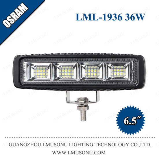 12V 6.5 Inch 36W Spot Flood Beam LED Work Lamp for Car Agriculture Harvesters Tractor Waterproof IP67