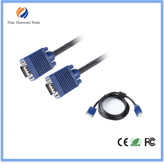 High Quality Filter Noise VGA Cable with Ferrites VGA Cable 3+6 pictures & photos