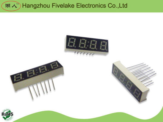 0.28 Inch Quad Digits 7 Segment LED Display (WD02841-A/B) pictures & photos