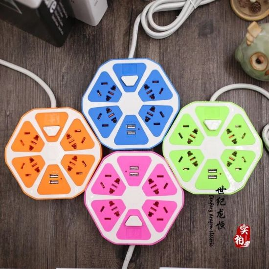 Multi Plug Extension USB Socket Power Outlet 10A 260W