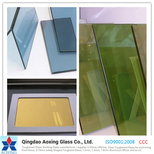Nature Green/Light Blue Color/Clear Toughed/Float Reflective Glass
