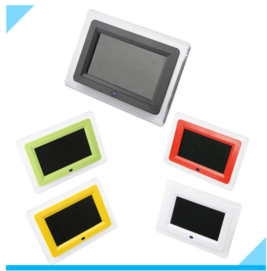 7 Inch Colorful Digital Photo Frame with LED Light