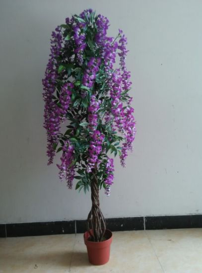 High Quality of Artificial Plants Natural Trunk with Flowers Westeria Gu-SL-130-840-45mix pictures & photos