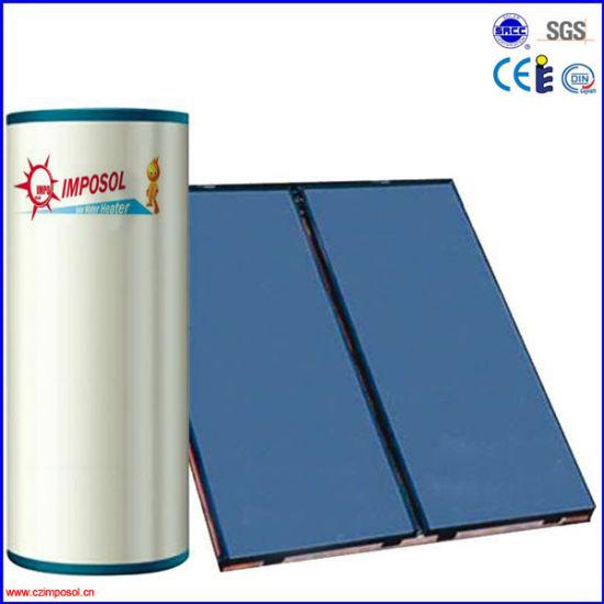 Split Flat Plate Solar Water Heater