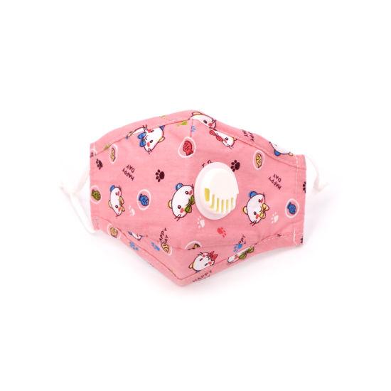 Wholesale Fashion 3 Layer Cotton Kids Facemask Reusable Children Face Masks with Filter Washable Kids Cartoon Maskes