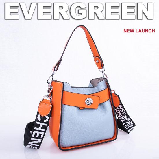 Color Collision Tote Women Handbags PU Leather Lady Bag Sh612