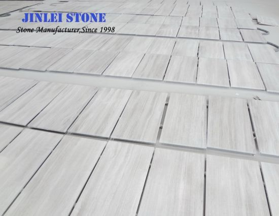 Building Material White Wooden Grain/Grey Veins Tile/Slab/Covering/Skirting/Pattern Marble pictures & photos