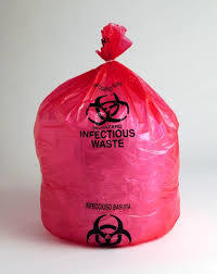 Manufacture Plastic Infection Waste Bag / Garbage Bag / Trash Bag