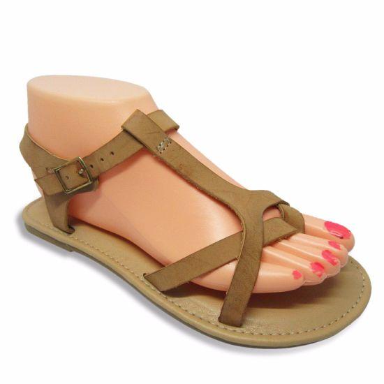 a404e97187caf2 China New Styles Fashion Lady Dress Sandals - China Flat Sandals ...