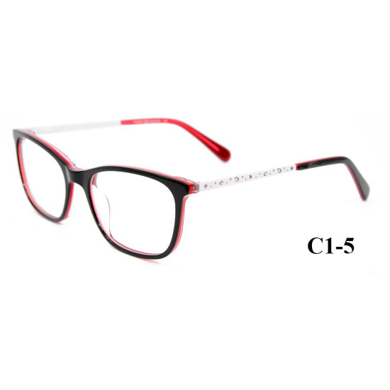 dd423b58168b Wholesale Cute Acetate Eyewear Optical Glasses Frame with Little Metal