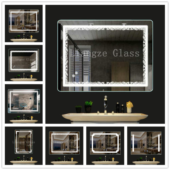 Hot Sale Beauty Hair Salon Mirror Station Make up Mirror with LED pictures & photos