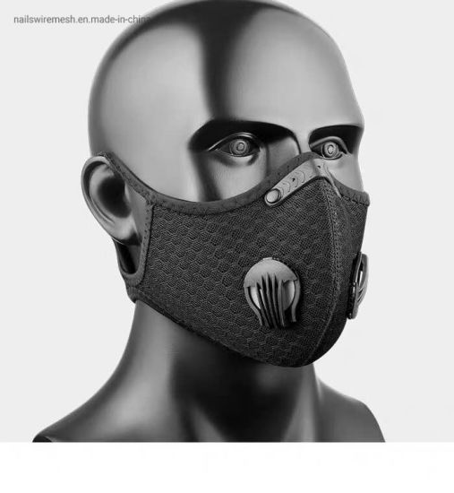 PM2.5 Outdoor Cycling Sport Mask Double Valves Activated Carbon Filter Bicycle Mask
