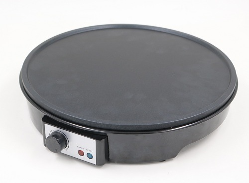 Automatic Crepe Maker with Non-Stick Coating Plates for Easy Cleaning