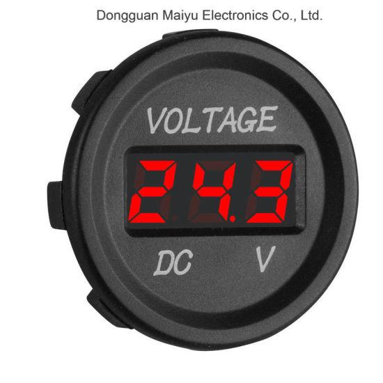 SUV DC12V-24V LED Display Mini Digital Voltmeter Voltage Meter