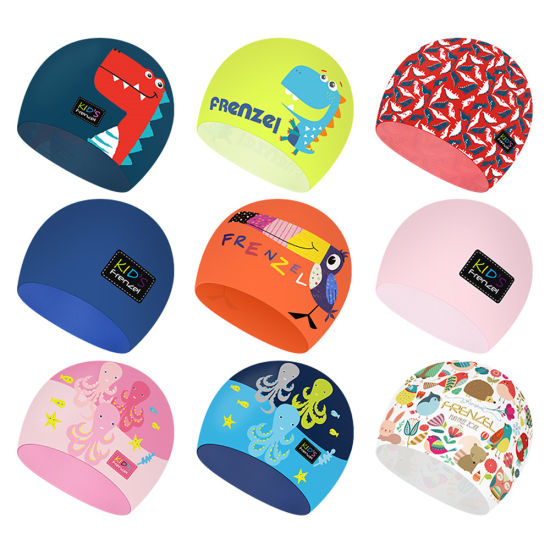 bc050610ccf Hot Selling High Quality Personalized Custom Unique Design Cool Cartoon  Blank Flexible Waterproof Long Hair Dreadlocks 100% Silicone Swimming Hat  for Adult ...