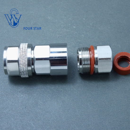 China Male Plug Clamp RF Coaxial N Type Connector for 1/2