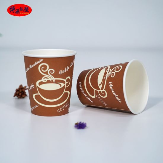 China Factory Custom Logo Printing Disposable Coffee Paper Cup Single Wall Cups/ Double Wall Cups/ Ripple Wall Cups