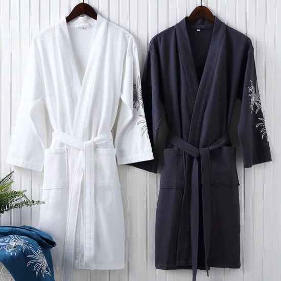 8594c4df5c China Customized Woman Blue Bath Towel Bathrobes Set (JRD394 ...