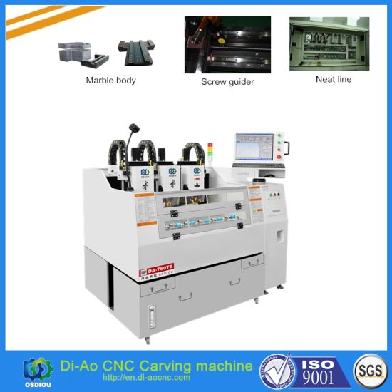 China 3 Heads CNC Cutting Machine for Phone Glass, Phone Screen, Metal pictures & photos