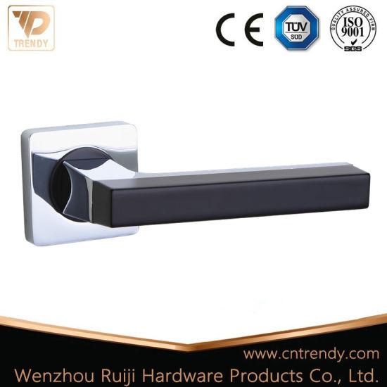 China European Style Door Hardware Door Lock Handle with Square Base ...