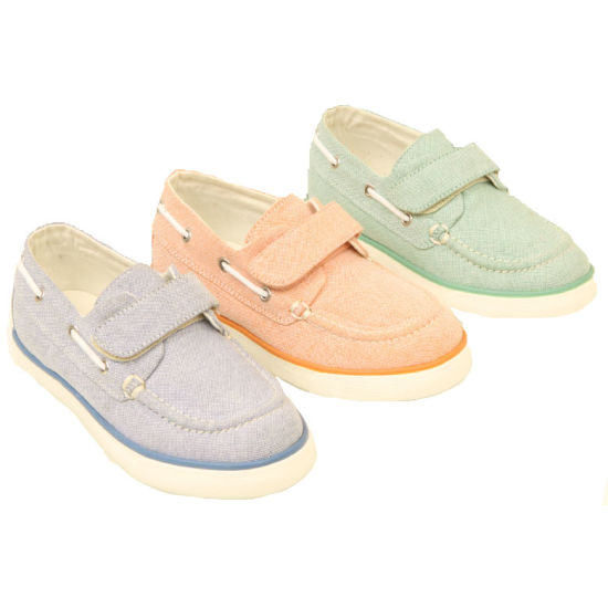 Cheap Price Girls Footwear Thin Sole PVC Children Canvas Shoes