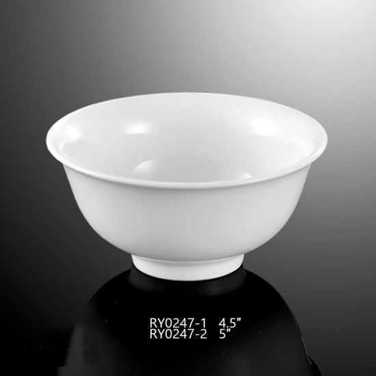 White Porcelain Porridge Bowl for Restaurant & Hotel pictures & photos