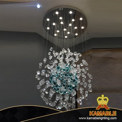 Projecr Hotel Restaurant Coloured Glaze Chandelier Pendant Light (KAP-G900)