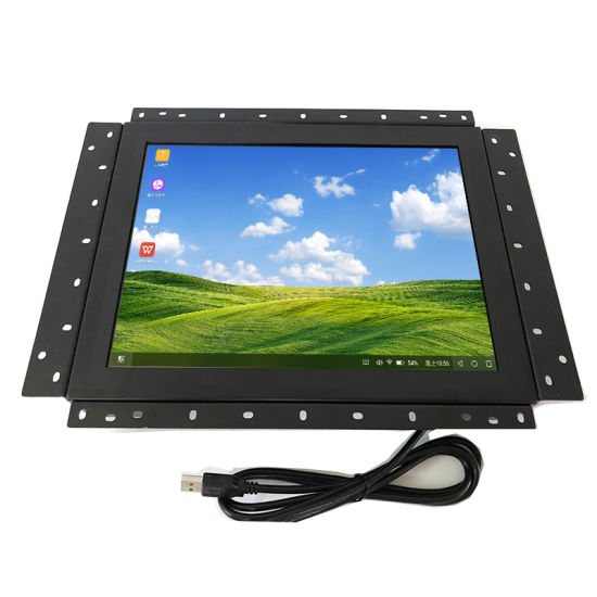 Open Frame Embedded P-Cap 12 Inch Metal Case Industrial Touch Screen Monitor for Kiosk