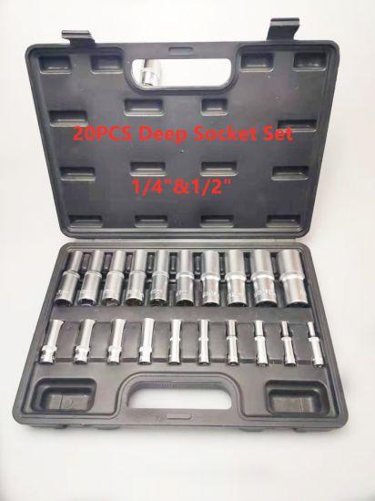 """20PCS 1/4""""Dr&1/2""""Dr Deep Socket Set (FY1020B1)"""