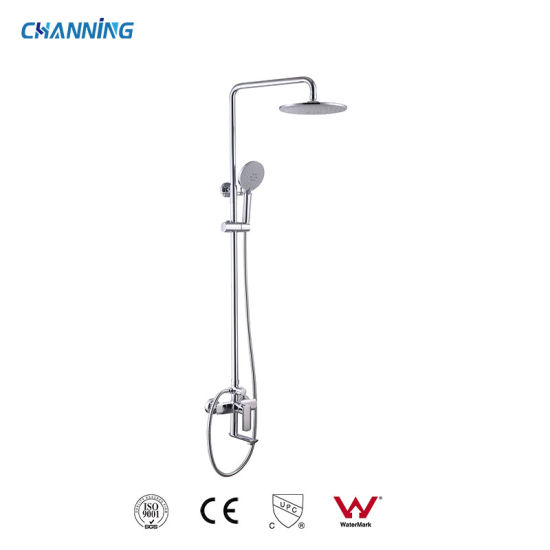 Foshan High Quality Wall Mounted Rain Shower Combination Brass Hot and Cold Sanitaryware Bathroom Shower Faucet (QT-72 3601)