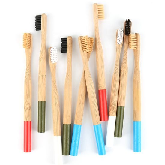 Wholesale Biodegradable Soft Round Handle Bamboo Toothbrush Hotel