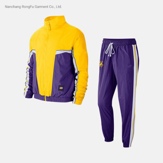 Men's Basketball Suit Stand Collar Woven Sports Jacket Tracksuit