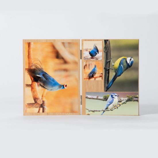 Double-Side Bamboo Picture Photo Frame for Grandmother