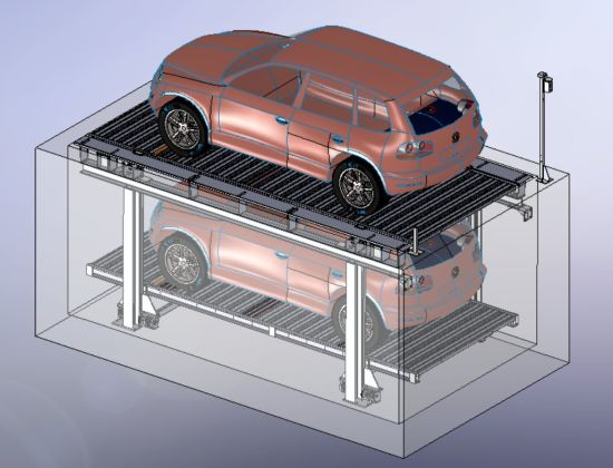 China Hot Sale Underground Car Parking Lift with CE