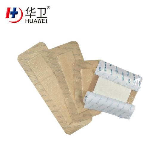 Sterile Silicone Foam Wound Dressing Silicone Gel Adhesive for Burn Wounds or Pressure Ulcers Care