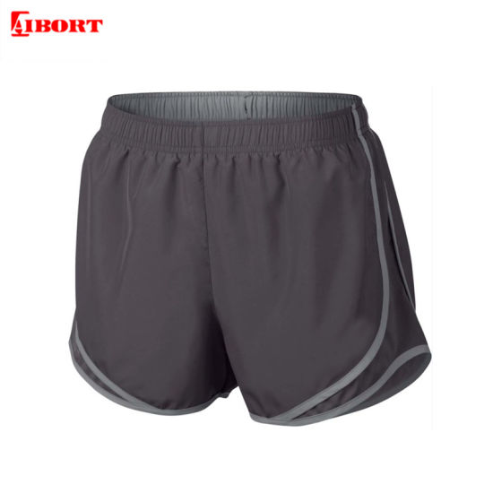 Aibort Sublimation Spandex Workout Mesh Fitness Gym Shorts with Pocket