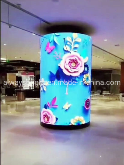 High Definition Indoor Flexible Full Color Soft Advertising LED Display Screen Panel for Column
