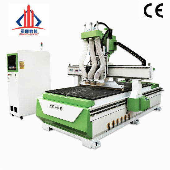 Guandiao Wood CNC Router 1325 Wooden Furniture Cabinet Door Making Atc CNC Router