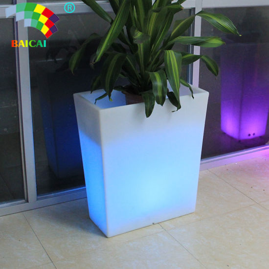 Remote Control LED Flower Pots Use in Home and Garden Plastic Vase