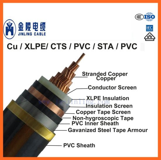 6/10kv Mv XLPE Insulated Power Cables Single Core Cables