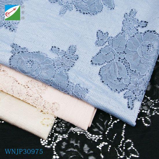 Wholesale Dress Textile Bridal Lace Fabric for Dubai African Textile Cotton Lace Garment Fabric Material