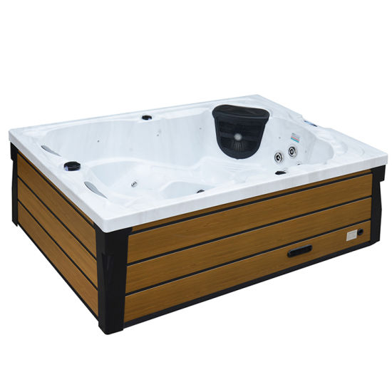 Outdoor Mini Jacuzzi.3 Person Jacuzzi Hot Tub Square Outdoor Mini Spa Tubs